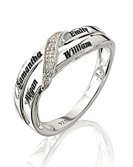 Precious Sentiments Crossover Ring