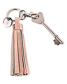 Tassel Keyring with Personalised Charm