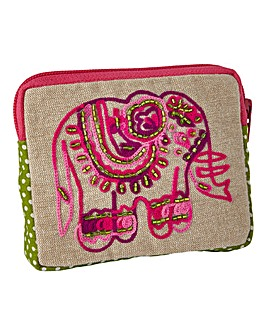 Embellished Elephant Purse