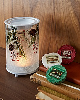 Yankee Candle Pine Melt Warmer and Melts