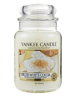Yankee Candle Spiced White Cocoa Jar