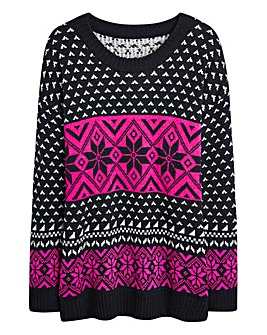 Christmas Neon Fairisle Jumper