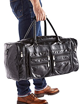 Leather Patchwork Multi-Pocket Holdall