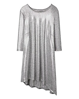 Metallic Aysmetric Top