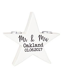 Personalised Wedding Tealight Holder
