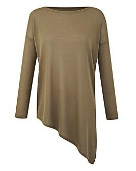 Asymmetric Long-Sleeve Top