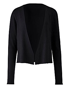 Black Edge to Edge Shrug