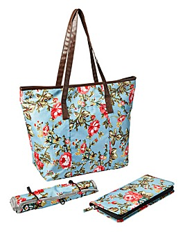 3 Piece Floral Travel Bag Set