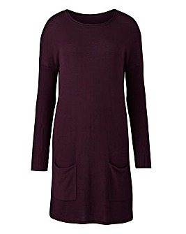 Dark Purple Tunic With Pockets