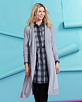 Merino Wool-Mix Longline Cardigan