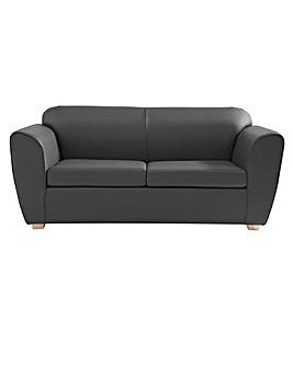 Aurora Three Seater Faux Leather Sofa