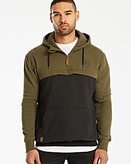 Fenchurch Roman Zip Neck Hoody Reg