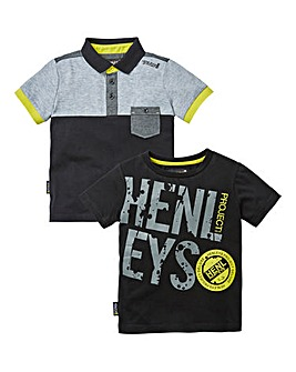 Henleys Boys Pack of Two Polo & T-Shirt