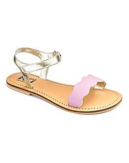 TKD Girls Scalloped Bar Sandals