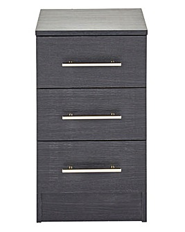 Helsinki Three Drawer Bedside Cabinet