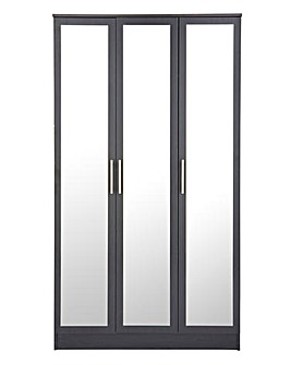 Helsinki Three Door Wardrobe with Mirror