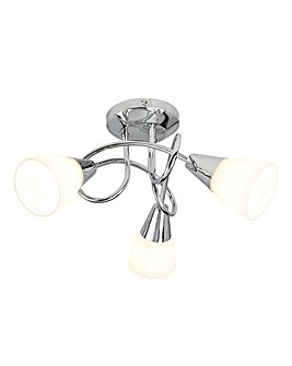 Alessia 3 Light Chrome Ceiling Light