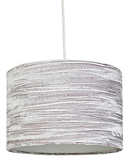 Grey Crushed Velvet Pendant