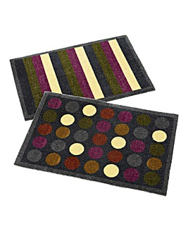 Muddle Mat Pack of 2- Spots& Stripes