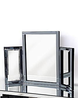 Bevelled Dressing Table Mirror-Smoked
