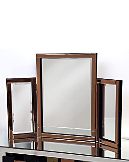 Bevelled Dressing Table Mirror-Copper