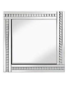 Classic Bevelled Mirror with Crystals
