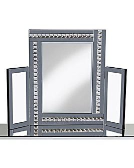 Dressing Table Mirror with Crystals