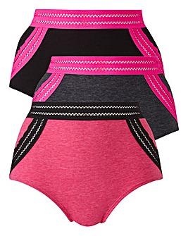3 Pack Sports Elastic Shorts