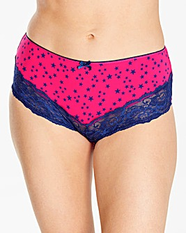 5 Pack Mid Rise Star Print Briefs
