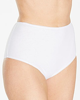 4 Pack Basic Full Fit White Briefs