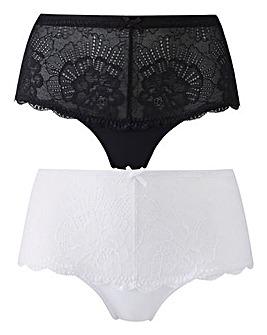 2 Pack Imogen Lace Black/White Shorts