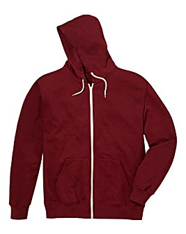 Jacamo Burgundy Bailey Hooded Top Reg