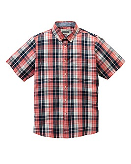 Jacamo Destin S/S Check Shirt Long