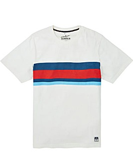 Jacamo Atlanta Stripe T-Shirt Long