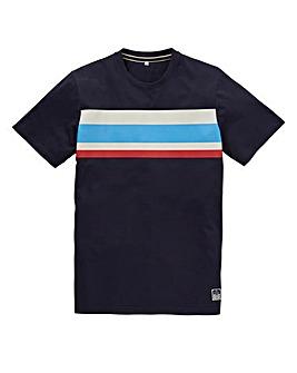 Jacamo Atlanta Stripe T-Shirt Regular