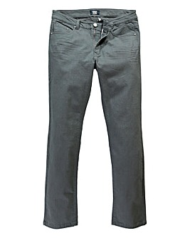 UNION BLUES Charcoal Gaberdine Jean 33in