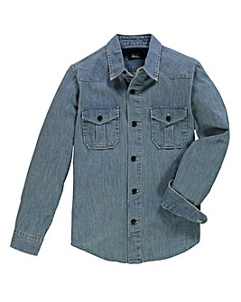 UNION BLUES L/S Darwin Denim Shirt Reg