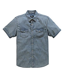 UNION BLUES S/S Bishop Denim Shirt Reg
