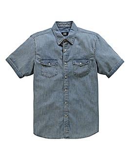 UNION BLUES S/S Bishop Denim Shirt Reg