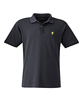Jacamo Black Embroidered Polo Regular