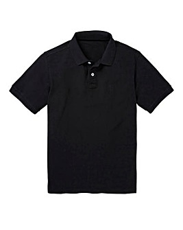 Capsule Black Embroidered Polo Xtra Long