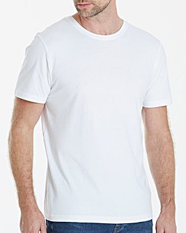 Capsule White Crew Neck T-shirt L