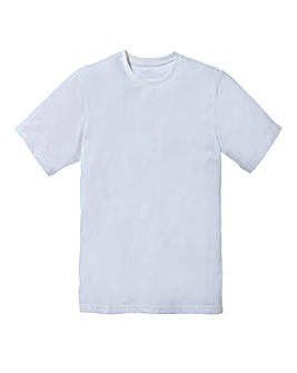 Capsule White Dallas Basic Crew Tee Long