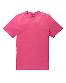 Jacamo Pink Dallas Basic Crew Tee Long
