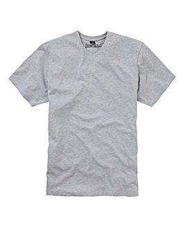 Jacamo Grey Marl Titus V-Neck Tee Long
