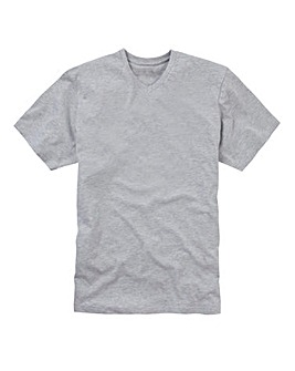 Capsule Grey Marl V-Neck T-shirt L