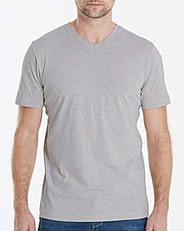 Capsule Grey Marl V-Neck T-shirt Regular