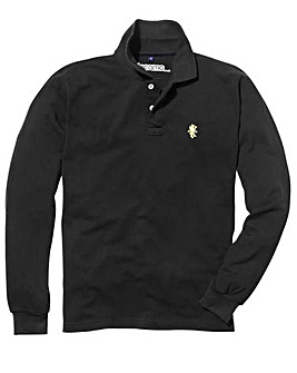 Capsule Black Embroidered Polo Long