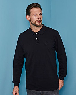 Capsule Black L/S Griffin Polo Regular