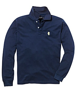 Capsule Navy Embroidered Polo Long
